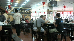 Chineese Restaurant Fast Motion Stock Footage