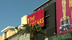2009 Academy Awards Building Zoom Stock Footage