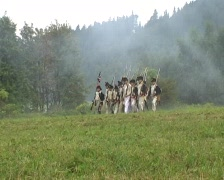 War reenactment Stock Footage