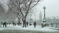 London snow - stock footage
