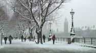 Stock Video Footage of London snow