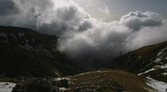 Stock Video Footage of Mountain clouds timelapse