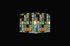 Cube rotating wideowall  - stock footage