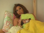 Stock Video Footage of Mother and Daughter in Bed-CU