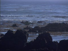 Ocean Rocks Blue Stock Footage