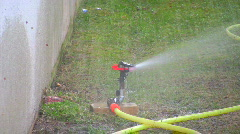 garden sprinkler - stock footage
