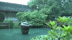 Hang Zhou Tea Fields and Tea House 7 Stock Footage