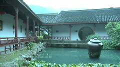 Hang Zhou Tea Fields and Tea House 8 Stock Footage