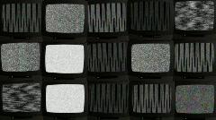 TV wall 02B - stock footage
