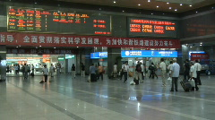 Hang Zhou Train Station Fast Motion 5 - stock footage