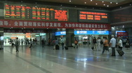 Hang Zhou Train Station Fast Motion 5 Stock Footage