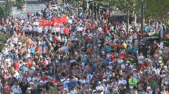 Huge crowd gathers timelapse Stock Footage