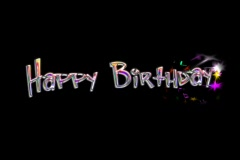 Animated Title with alpha -- Happy Birthday -- 4x3 NTSC - stock footage
