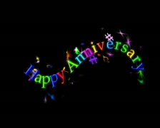 Animated Title with alpha -- Happy Anniversary 2 -- 4x3 PAL - stock footage