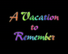 Stock Video Footage of Animated Title with alpha -- Vacation to Remember -- 4x3 PAL