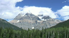 Mt. Robson (the tallest peak in the Canadian Rockies)  Stock Footage