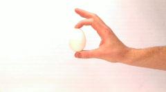 Crushing Egg 2 Stock Footage