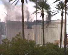 Las Vegas Monte Carlo Hotel Fire - JANUARY 25, 2008 Stock Footage