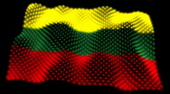 Stock Video Footage of Glowing Flag - Lithuania 05 (HD)
