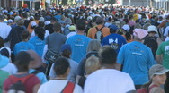Stock Video Footage of Crowd of people walking 2