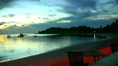 Evening beach in fiji 4 94 Stock Footage