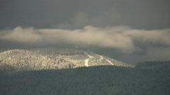 Distant ski-hill. Cypress Mountain. Stock Footage