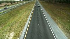 Alligator Alley road in Florida Averglades Stock Footage