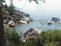 Lake Rock Zoom Stock Footage