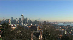 Seattle Skyline - stock footage