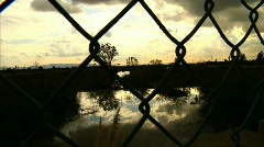 Fence 05 Stock Footage