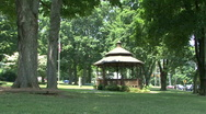 Stock Video Footage of Gazebo On The Green