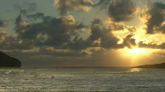 Time Lapse Sunrise Hawaii 105 Stock Footage