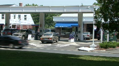 At A Gas Station Stock Footage