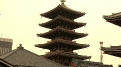 Tokyo Five Storied Pagoda and Kannon do Temple 2 Stock Footage