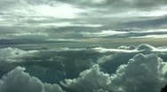 Cloud Aerial Fly Over Stock Footage