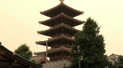 Tokyo Five Storied Pagoda and Kannon do Temple 16 - stock footage