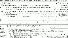 Tax Return 1040 - stock footage