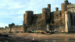 Welsh castle Stock Footage