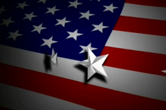 US Flag with Stars NTSC - stock footage