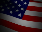 US Flag with Stars NTSC Stock Footage