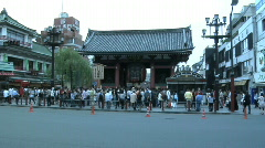 Tokyo Kaminarimon Gate and Nakamise Shopping 1 Stock Footage