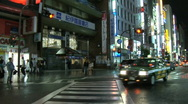 Tokyo Shinjuku at Night 6 Stock Footage