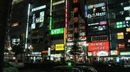 Tokyo Shinjuku at Night 9 Stock Footage