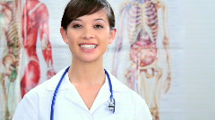 Medical student in training Stock Footage