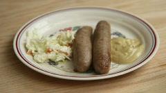 Bratwurst1 - stock footage