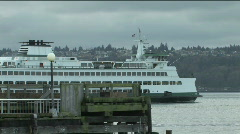 Seattle Ferry Stock Footage