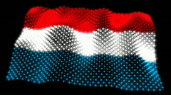 Glowing Flag - Luxembourg 05 (HD) Stock Footage