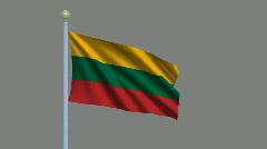 Flag of Lithuania  Stock Footage