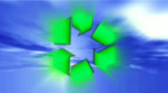 Green environment international symbol Stock Footage