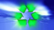 Green environment international symbol Stock Footage